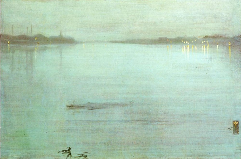 Nocturne: Blue and Silver - Chelsea, James McNeill Whistler, 1871