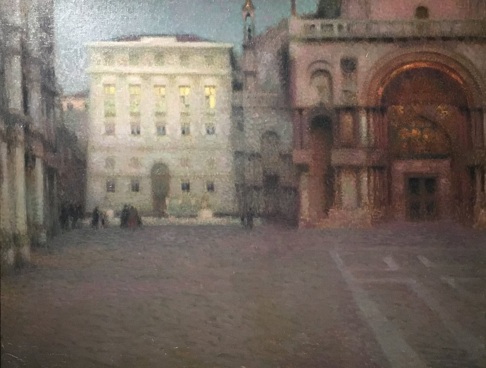 The Place Saint-Marc at Twilight, Henri Le Sidaner, 1907
