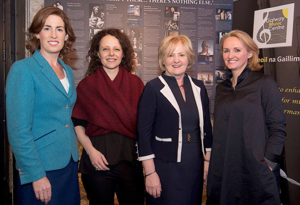Hildegarde Naughton, TD (left) is pictured at the launch with: Anna Lardi-Fogarty (GMC Director), Mary Dooley (Chair of the GMC Board) and Marilyn Gaughan (Galway 2020 Programme Manager, Galway County Council)
