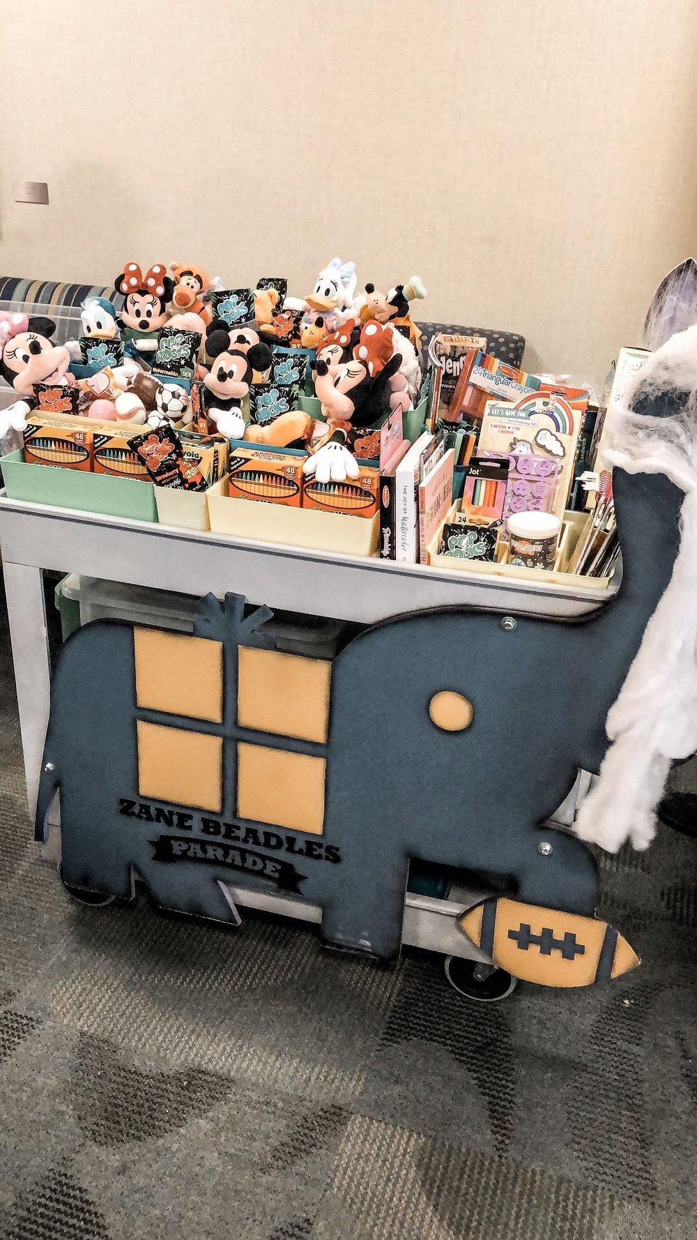 Zane's Parade cart at Rocky Mountain Children's Hospital