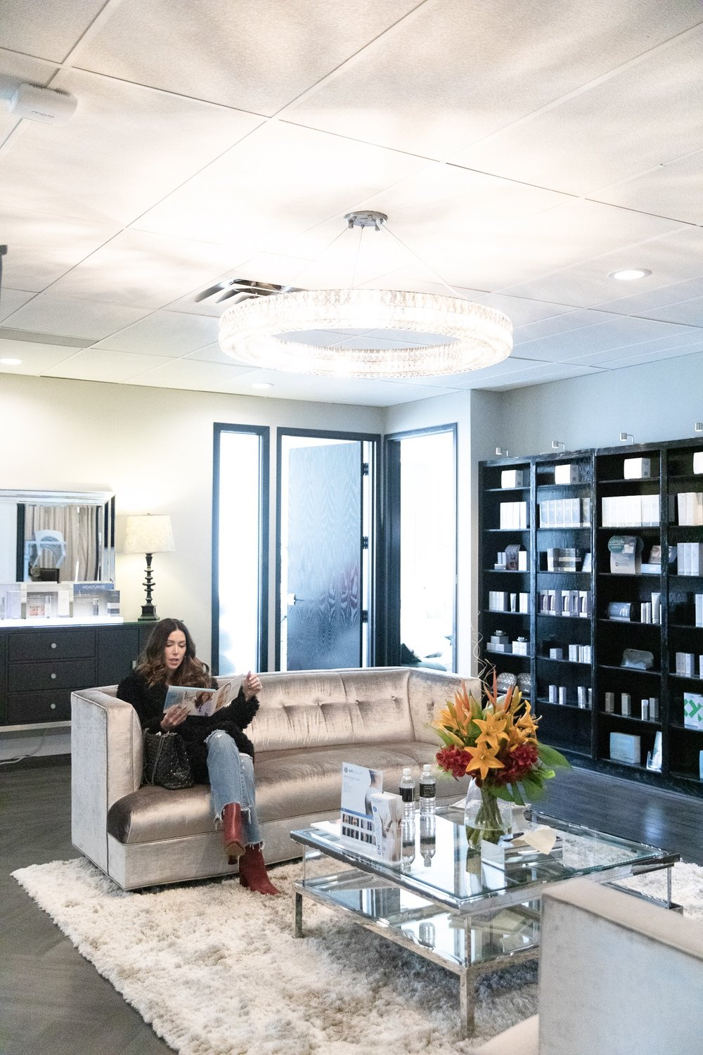the luxe room waiting area at Dr. Jack Zamora's office in Cherry Creek