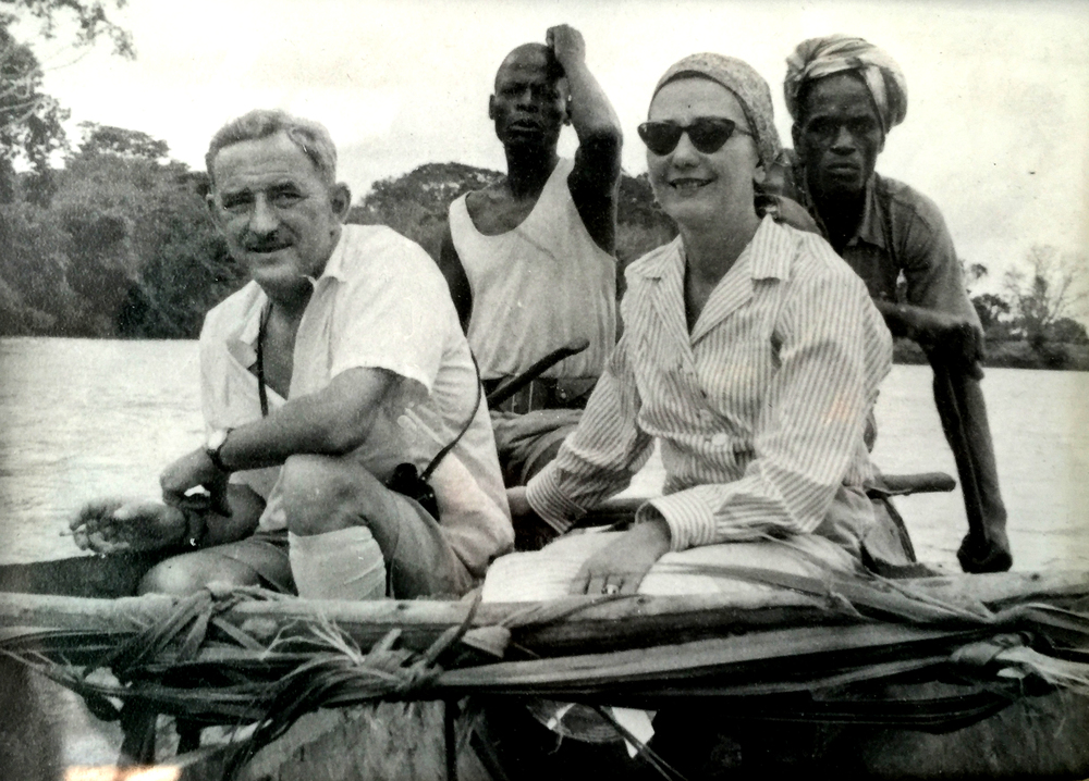 John and Valerie Kent float up the Nile