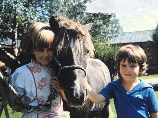 Anne's daughters at the Taylor Ranch in Montana, early 80s.