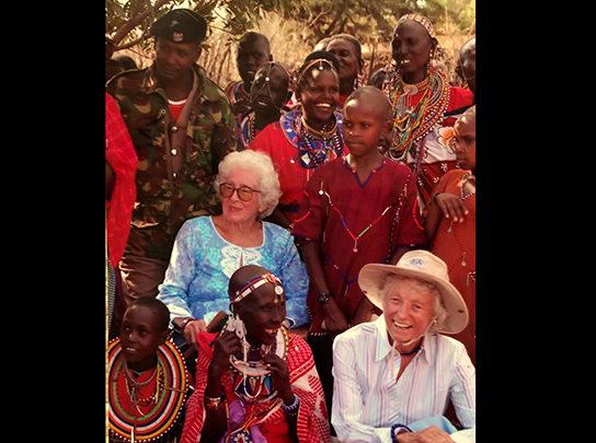 Farley's grandmother and grandmother in-law at her wedding in Kenya