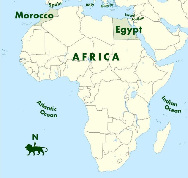Map Of Africa Sahara Desert.Northern Africa A K Taylor International