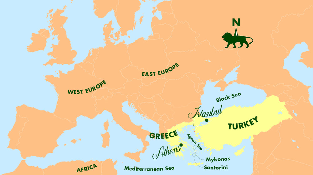 Turkey And Greece Map.Turkey Greece A K Taylor International