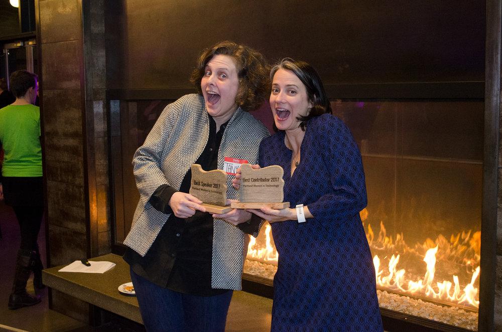 2017 Best Speaker Tanya Crenshaw; 2017 Best Contributor Katharine Nester