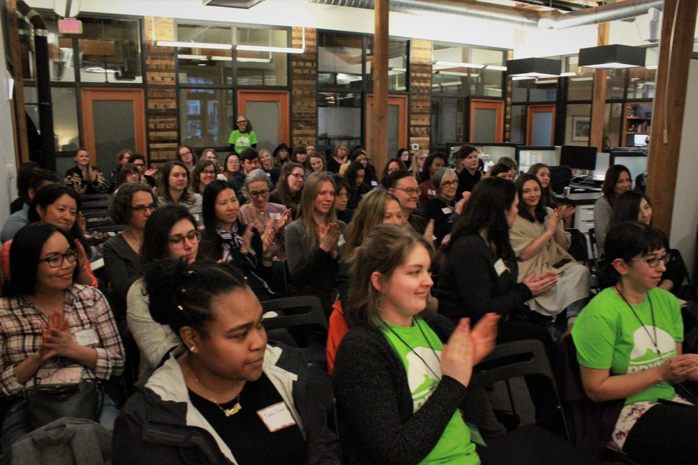 PDXWIT Creative Women in Tech @ R2C, 3/27/19, Attendees listen to the presentation