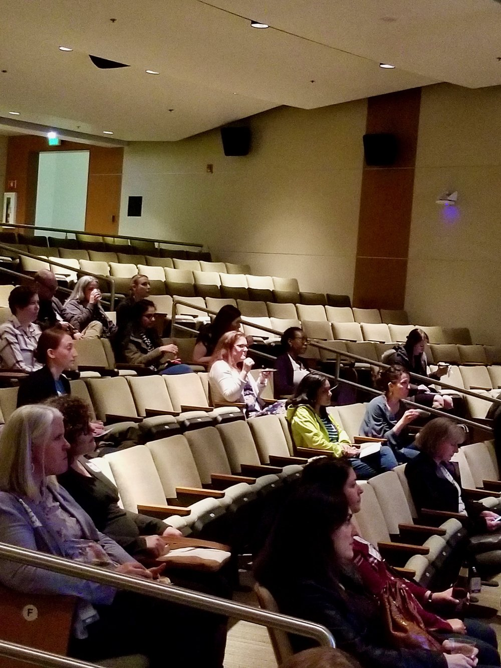PDXWIT West Side Mixer @ Intel, 4/2/19, Attendees listen to the presentation