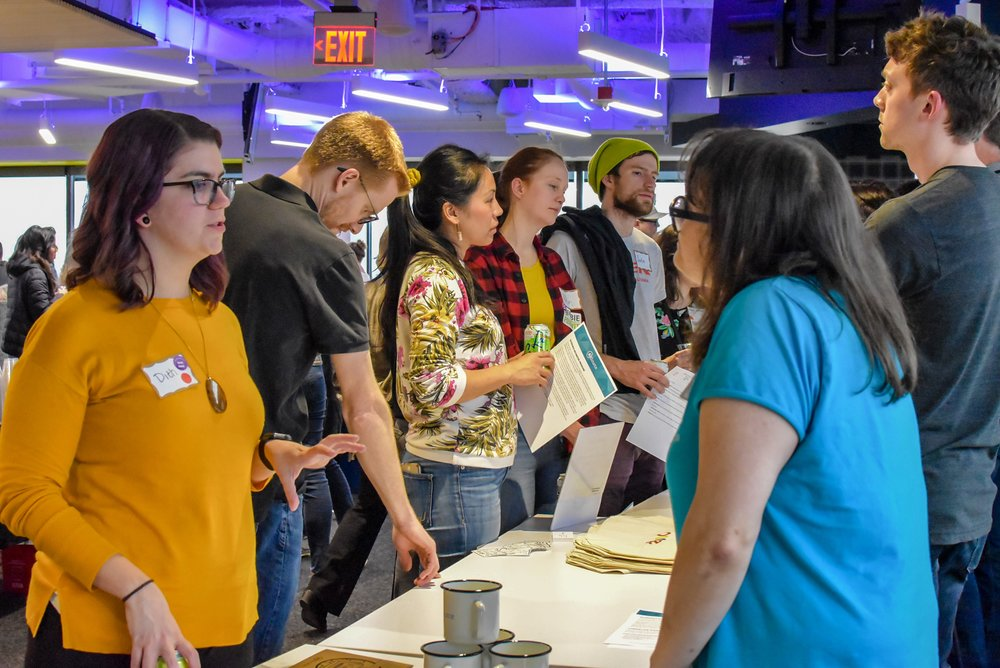 PDXWIT April Happy Hour @ New Relic, 4/16/19, Attendees mingle