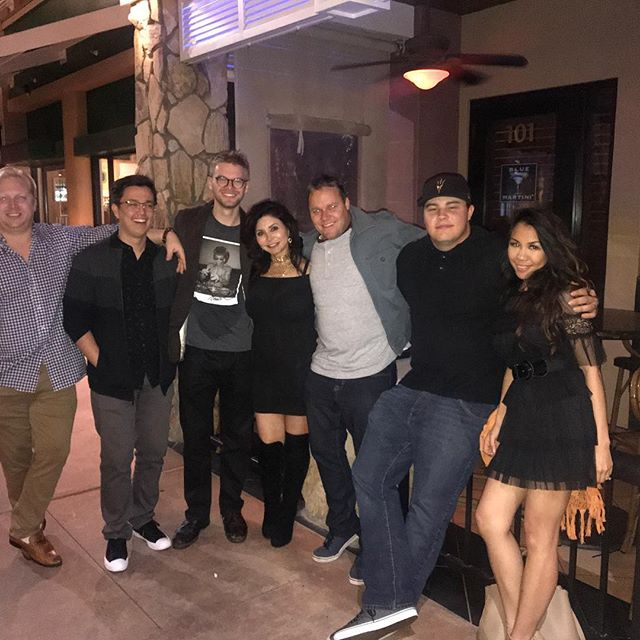 Fun with friends after a rough screening . #alifeconnected #nightout#maximamakeup#producer #director #actor #lovemovies #daveandbusters