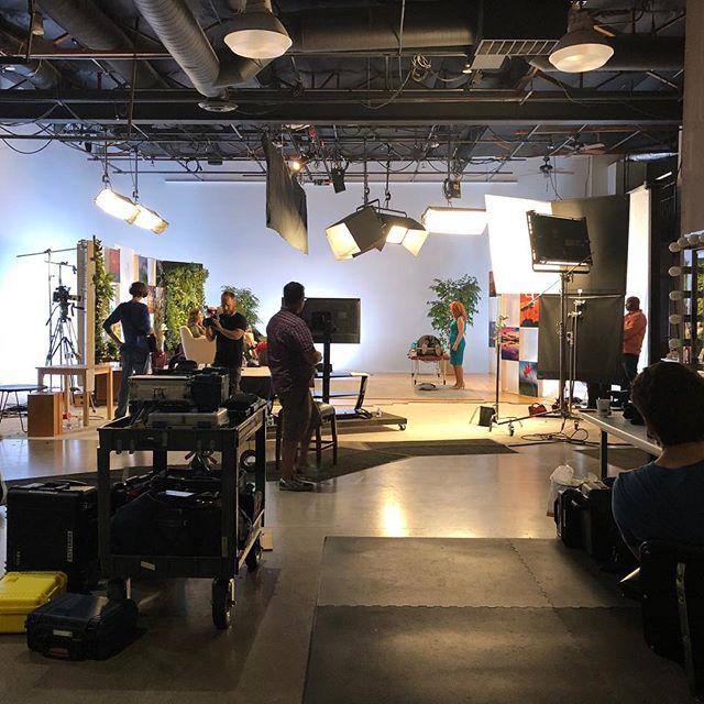Happy on set seeing all my fav people.  #maximaschool #makeupartist #fun#filming#tvshow#phoenix #studio#makeupforever #mac #christiondior