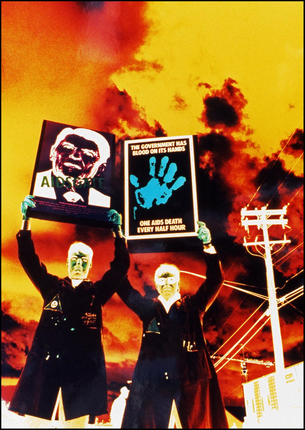 NHS - ACT UP Demo, circa '89