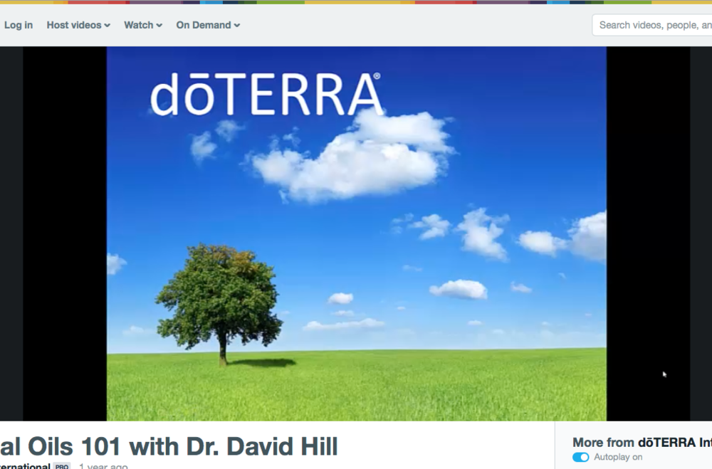 Essential Oils Webinar with Dr Hill...