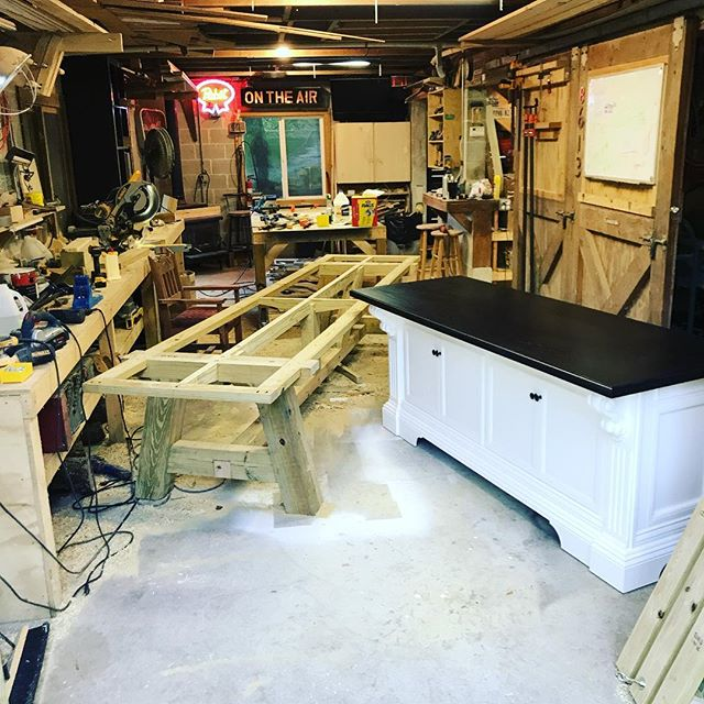 Not looking forward to cleanup. #woodworking #cleaning