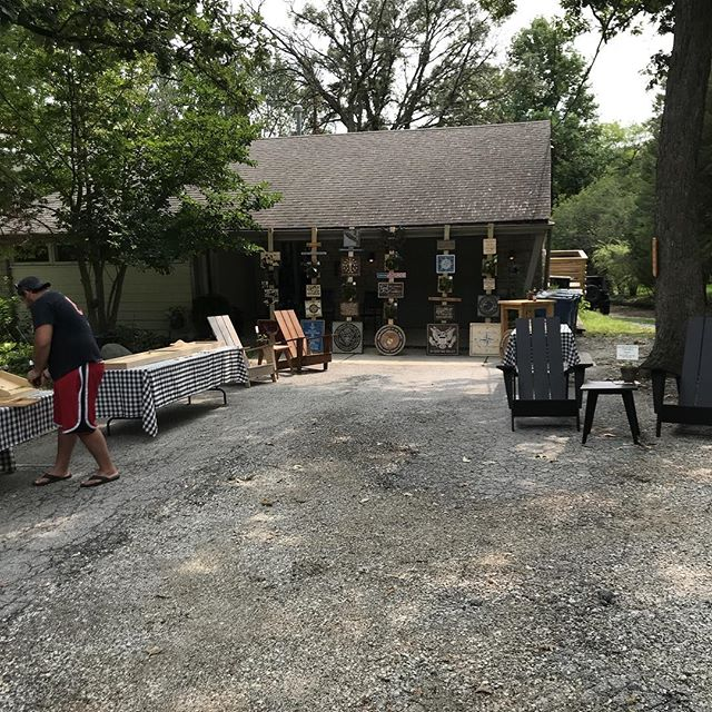 After a long hiatus, I'm back at it. Setting up shop in my driveway. Also featuring @sterenbergjosh and @thenappinghouse . furniture, signs, cnc engravings, and custom orders available. DM for address. We'll be out here til dusk. #woodworking #palospark #plushhorse #plushhorseicecream