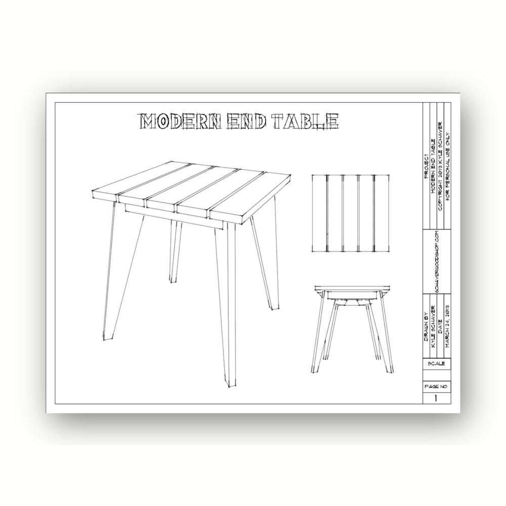 Build a matching end table! - Click the image to go to plan page
