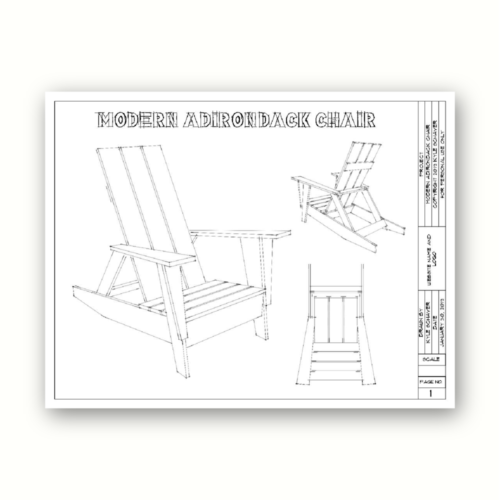 See also… - Modern Adirondack Chair Plans