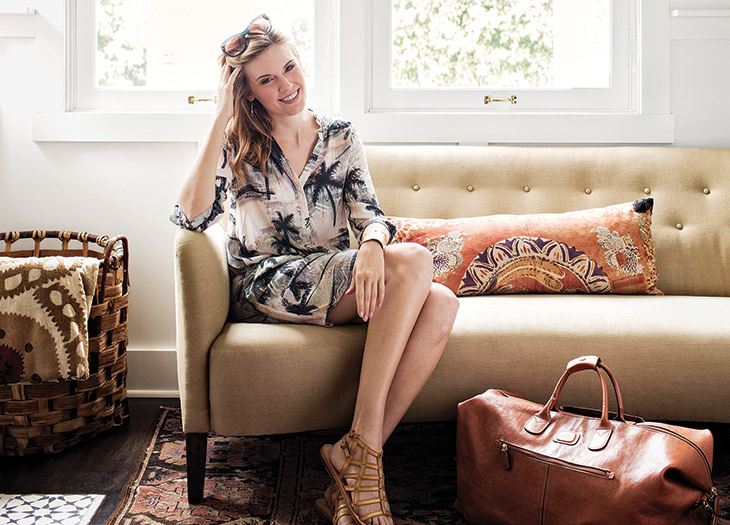 Actor and producer Maggie Grace packs light and literary: Portrait by Joe Schmelzer