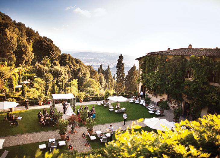 Italian countryside views at Tuscany's Belmond Villa San Michele.