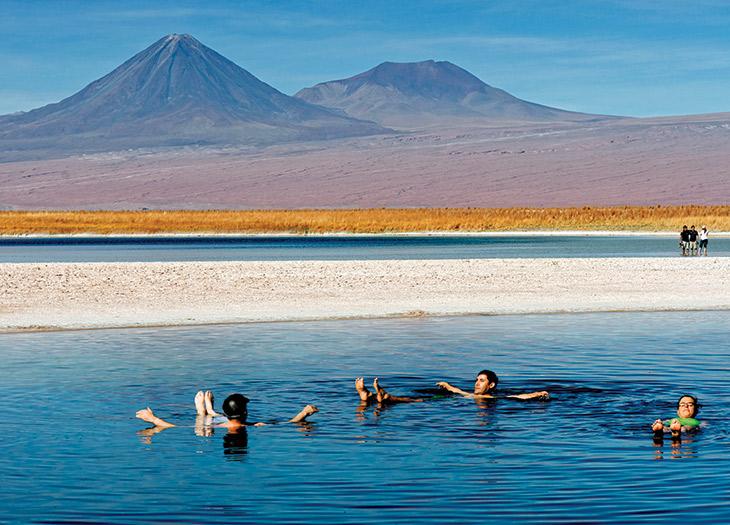 Floating in Laguna Piedra.