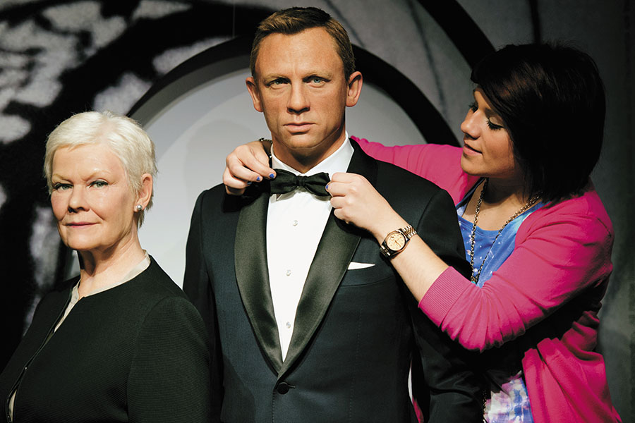 A wax statue of Daniel Craig, who played James Bond in Skyfall. A concierge services provider once turned their client into Bond and used hotels that were used in his movies Image: Leon Neal /AFP/ Getty Images