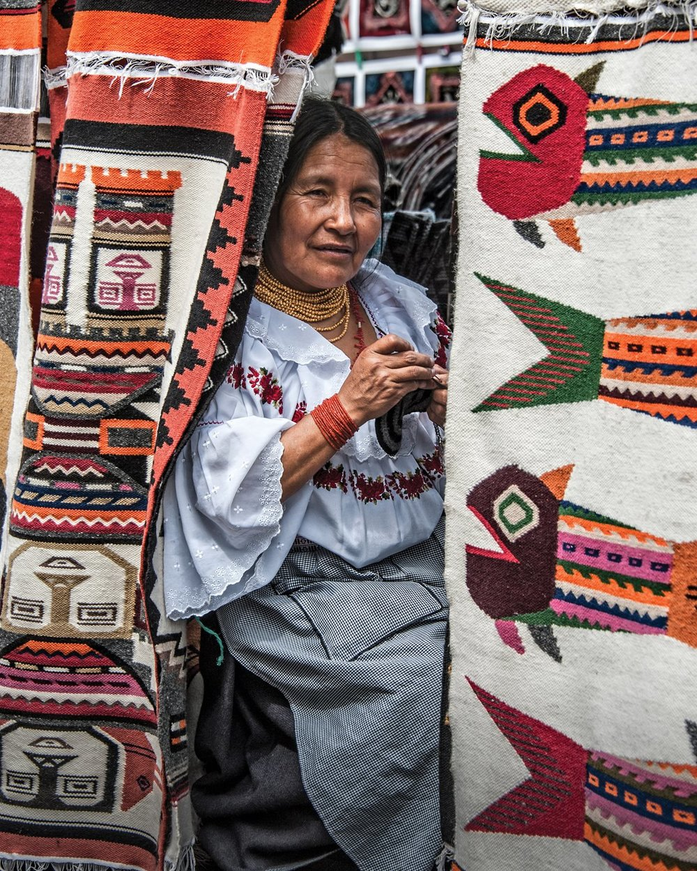 Andean artistry at the Otavalo Market.Photo by KSENIYA RAGOZINA/GETTY IMAGES,