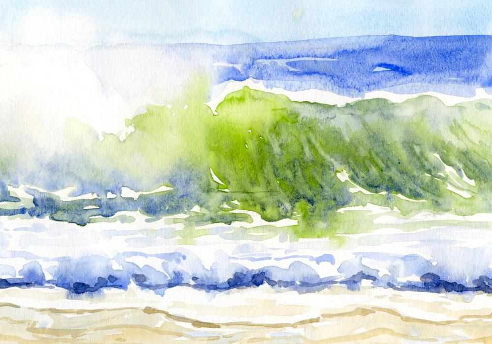 "Morning Surf 10"" x 7"""