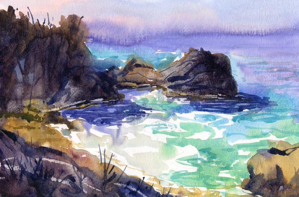 "Cliff's Cove 11"" x 7"""