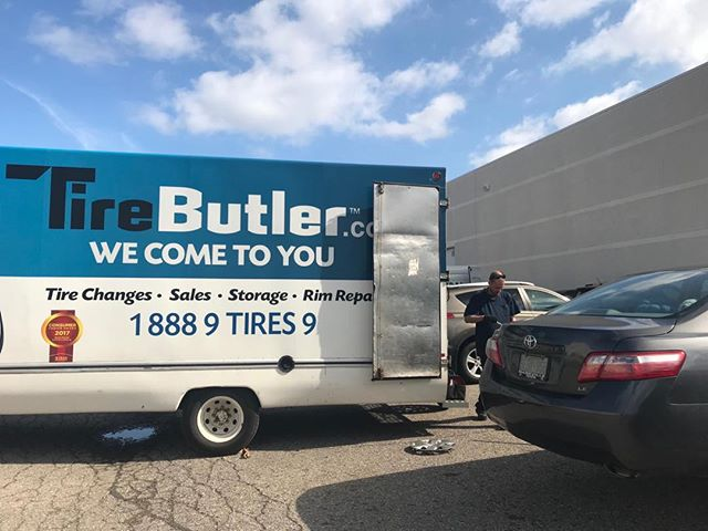 Tire changeover day at Marketing Kitchen. We are huge advocates of winter tires so we take care of changing our staffs tires in spring and fall and the best part is @tirebutler comes to us. Thank you to their amazing team.  #wintertires #safetyfirst