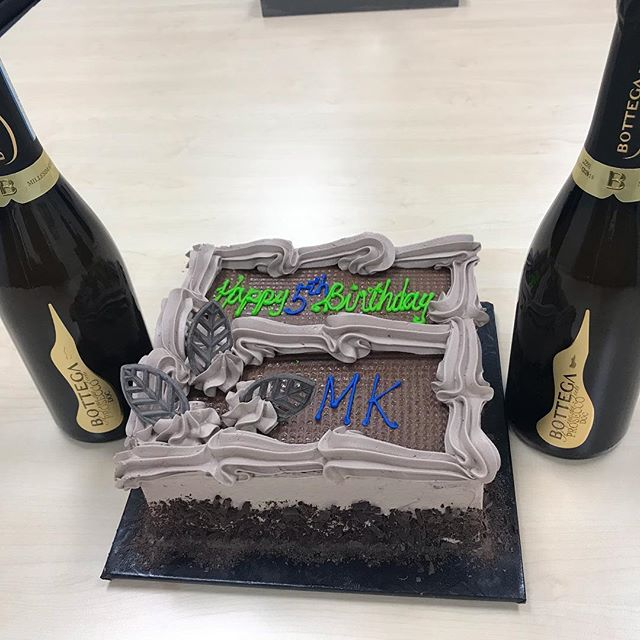 Thank you Kim & Gord from @cobersolutions .  Perfect day to drop off cake and champagne as we were cleaning our new space next door so we all appreciated the amazing treat !