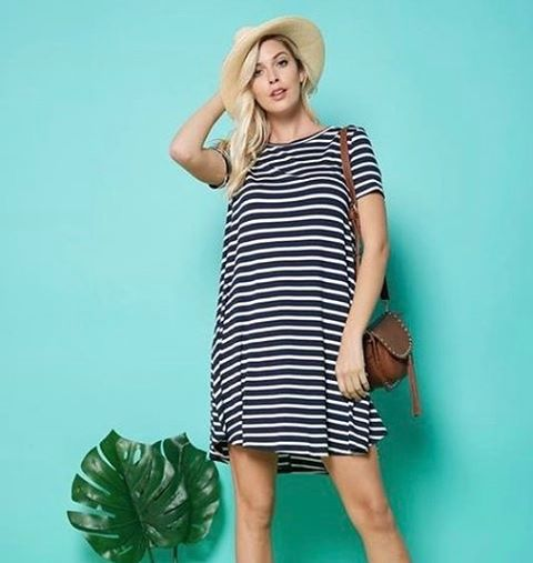 This perfect, comfy-casual, summer-ready dress has just been added online. Sizes small-large available.