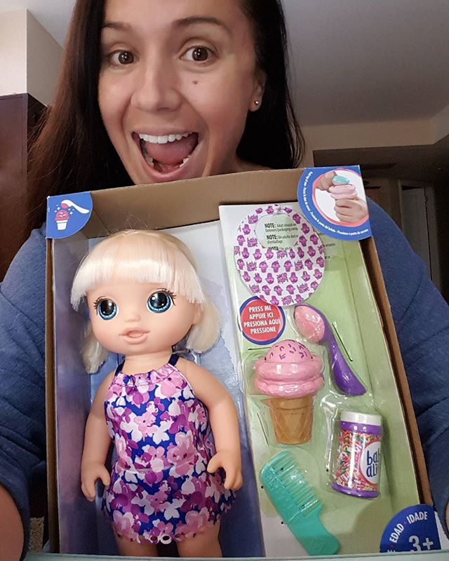 Happy FRIDAY!! THIS right here is my instant ticket to MOM OF THE YEAR!! My 3 year old has been waking up every day for the last 2 weeks asking me if it's Christmas yet, and reminds me that she wants this specific doll!  Eeeekkkk!! I CANNOT WAIT to see her expression when she opens this up!! (Now I gotta delete this pic from my phone so she doesn't see, and no, Santa ain't getting credit for this) 🥇💖😍😂