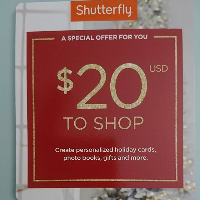 Who could use $20 (USD) to shop at Shutterfly? Comment below and tag a friend if you want to be included in tomorrows draw. Winner will be selected and announced tomorrow night (Dec 3) around 11pm EST.