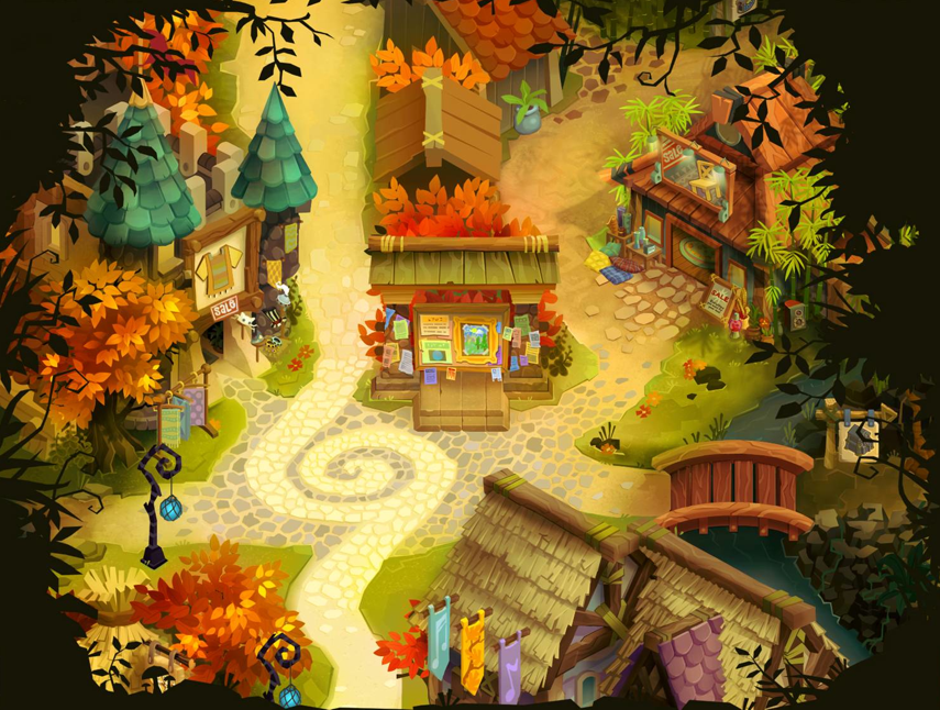 Fall Township Wallpaper