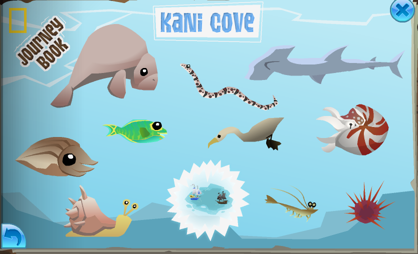 The completed Kani Cove page in the Journey Book.