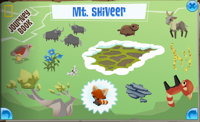 The completed Mt. Shiveer page in the Journey Book