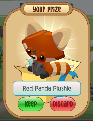 Your prize, the Red Panda Plushie!