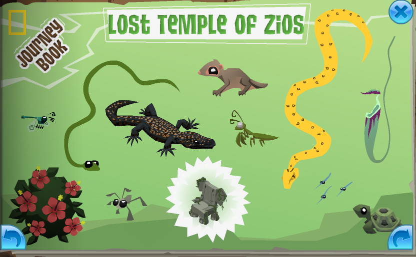The completed Temple Of Zios page in the Journey Book
