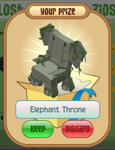 Your Prize, the Elephant Throne!