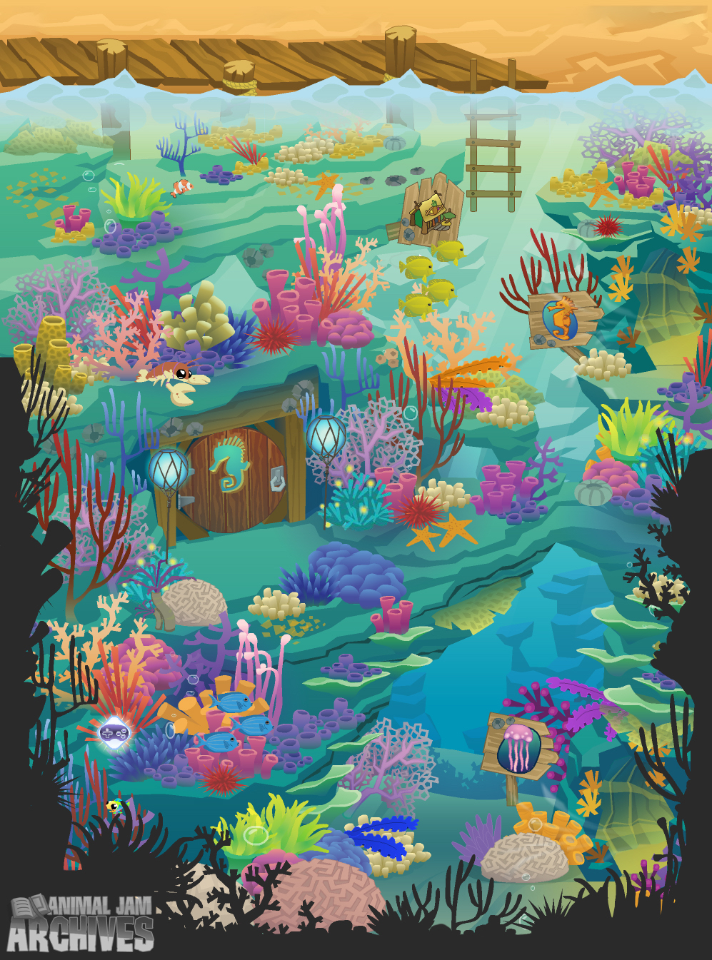 Crystal Reef Map