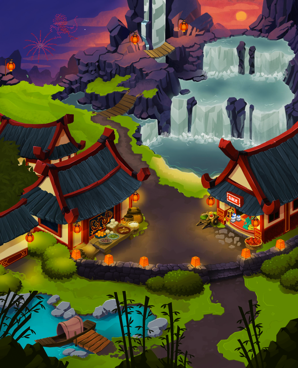 Year of the Monkey Party Map