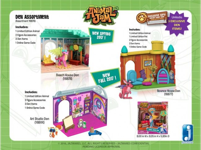 Limited Cheetah, Lynx, and Kangaroo toy figures with three new den play sets.