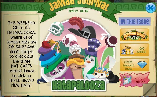 Image of: Spiked Top Milkshake Hat Burger Hat Top Hat Freedom Koala Hat Fancy Top Hat And Eyeball Hat Make Return At Jamaa Townships Sale Cart Animal Jam Archives Hatapalooza All Weekend Long Animal Jam Archives