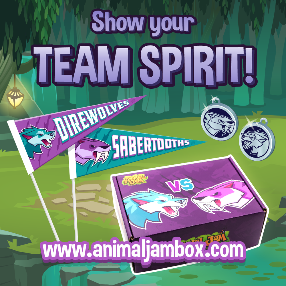 Show your team spirit with the new  Animal Jam box !