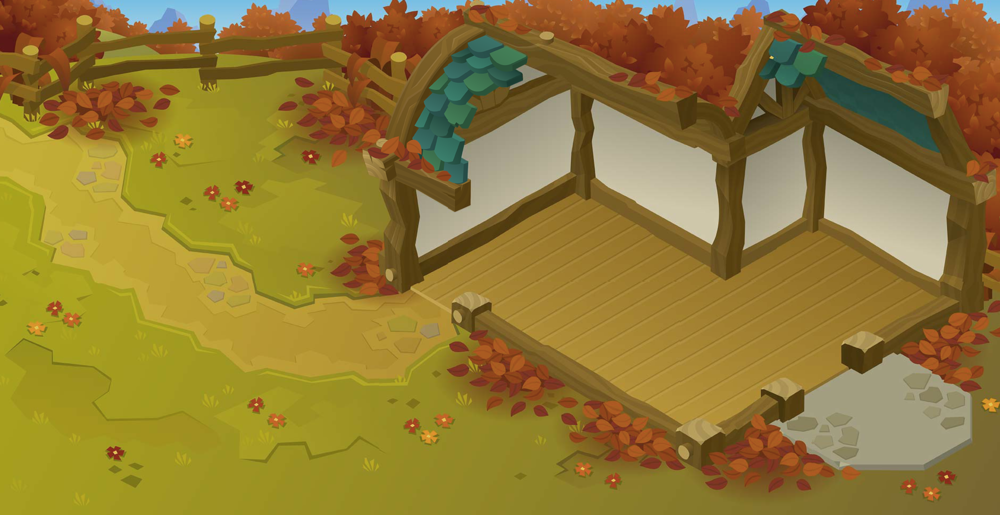 New! - Autumn Small House Map