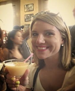 Enjoying a frozen virgin mango daiquiri at Hemingway's hangout, La Floridita