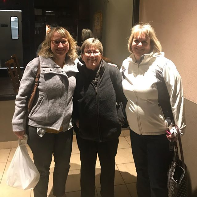 My Sister, Mom and Cousin Dawn in Revere Massachusetts. Mom and Dawn are escaping this horrible never ending east coast cold and flying to Aruba today. Safe traveles☀️