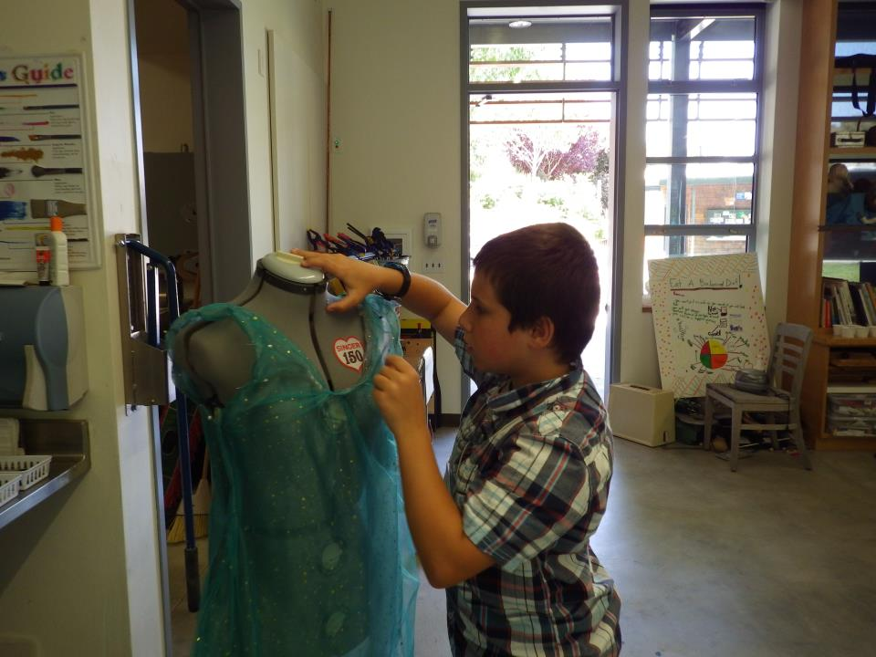 For some students, the only tool needed to complete their passion project was a sewing machine!