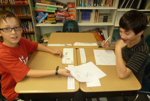 Sharing work in small groups with a question prompt is a low-stakes way to have a quick peer critique session.